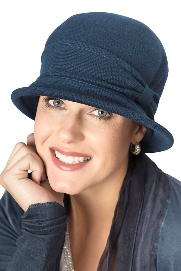 Cotton Versatility clochehat hat for cancer patients in navy  chemohat   cancerhat  clochehat a2a5139404d