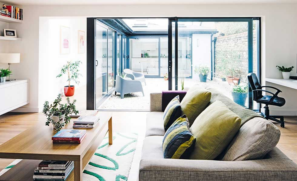 courtyard style extension with modern living room | FINAL EXTENSION ...