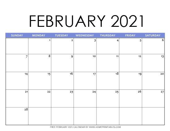 Free Printable February 2021 Calendar in PDF: 11 Best ...
