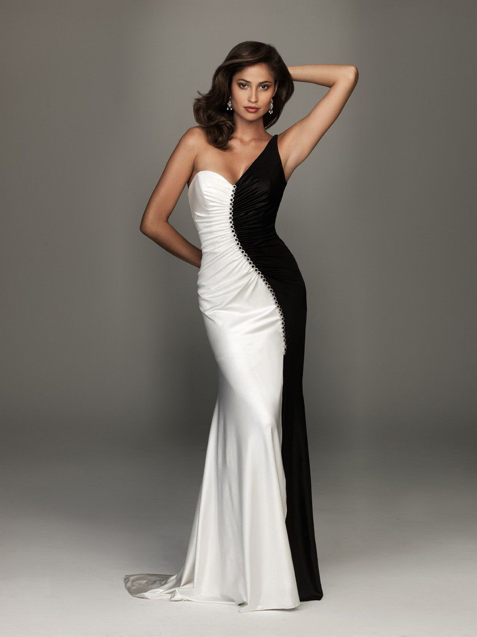 78 Best images about Black and White Dresses on Pinterest - Satin ...