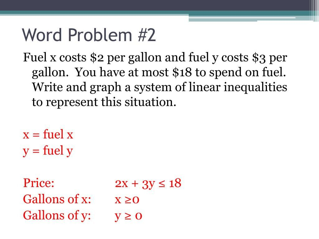 11 Linear Inequalities Word Problems Worksheet With