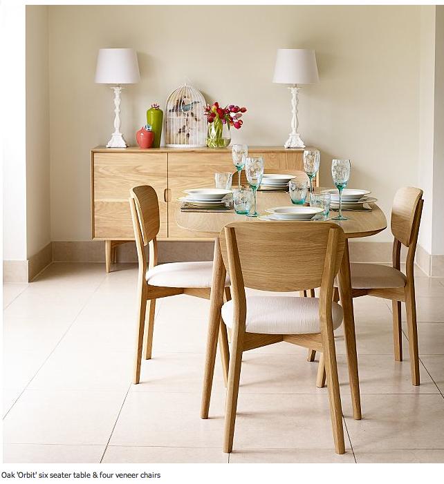 debenhams oak orbit 6 seater table chairs http www debenhams