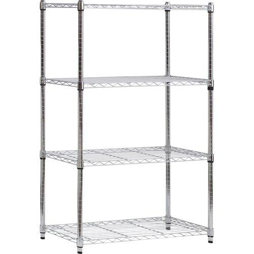 Rebrilliant 137cm Heavy Duty Wire 4 shelf Shelving Unit