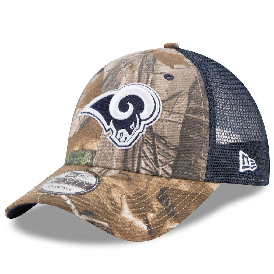 best website d66ec 6c306 Men s Los Angeles Rams New Era Realtree Camo Navy Trucker 9FORTY Adjustable  Hat, Your Price   23.99
