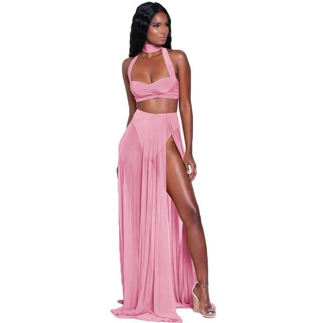 Bohemia 2017 Summer Beach Long Dress Sleeveless Women Chiffon 2 ...