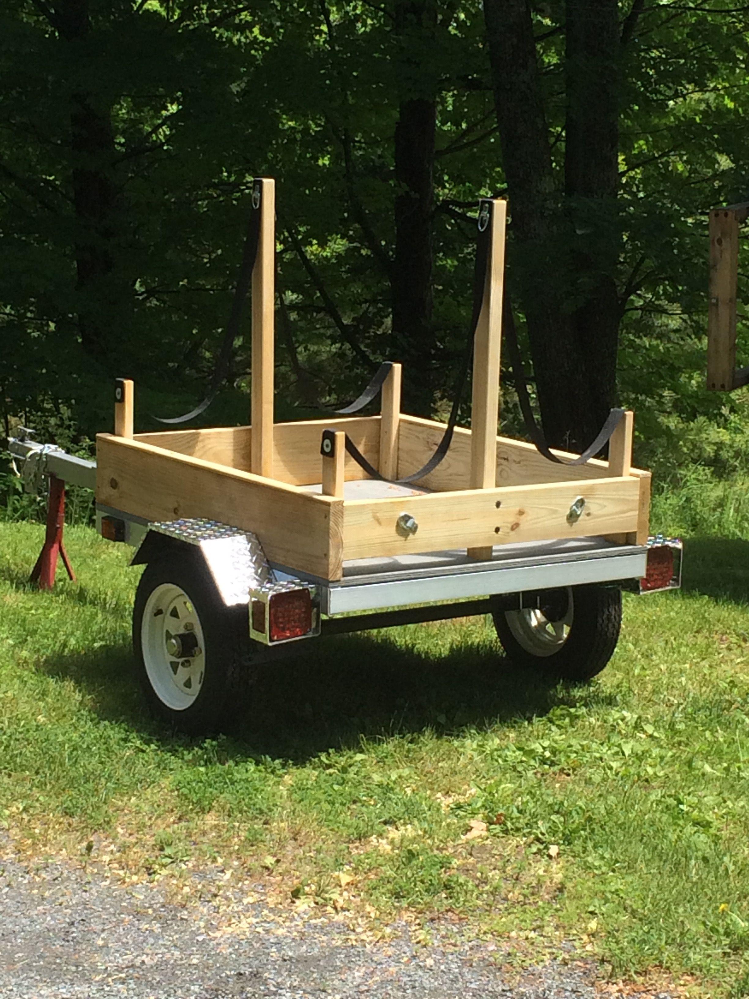 Diy utility trailer conversion to haul kayaks straps