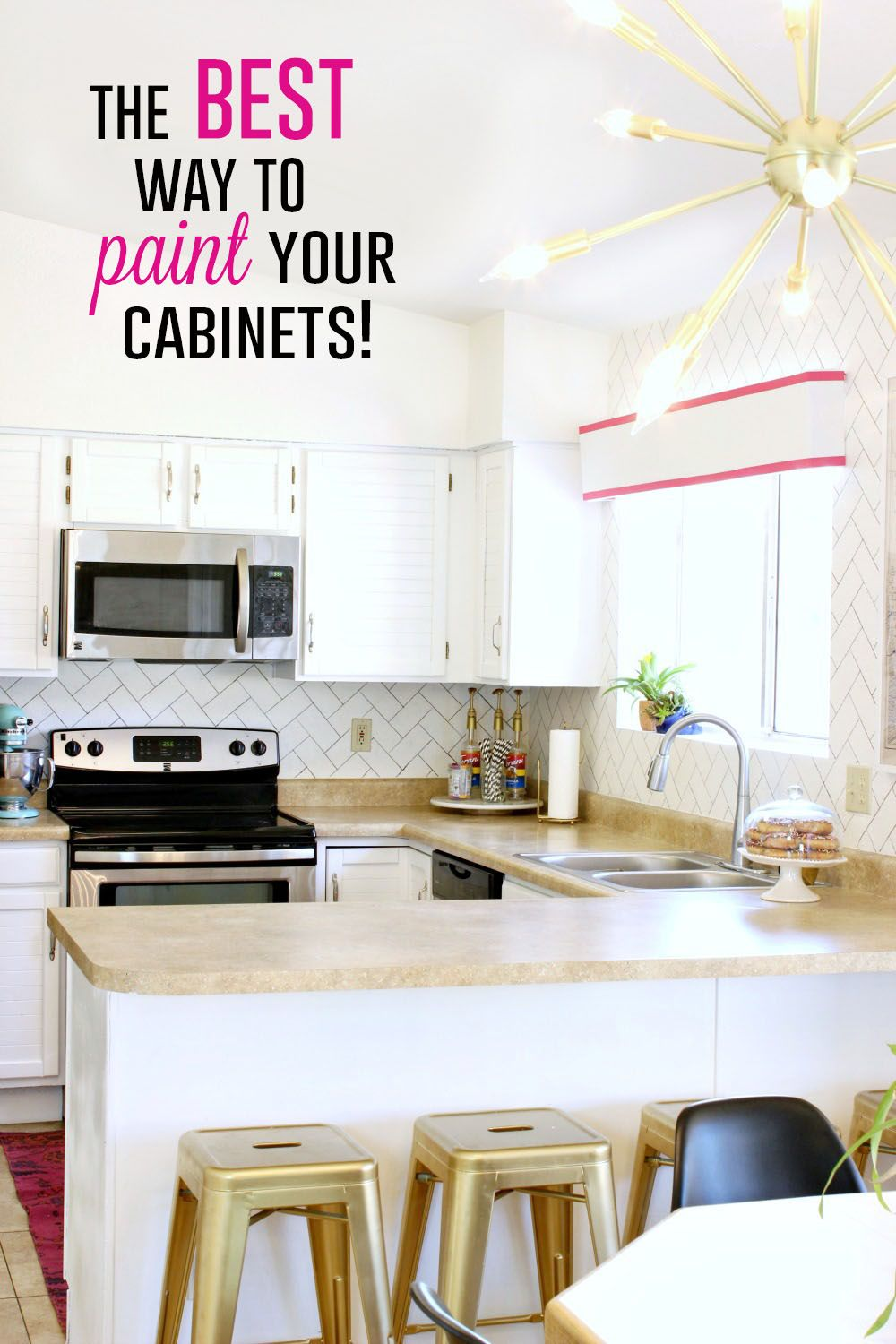 The BEST way to paint your cabinets | Painting kitchen ...