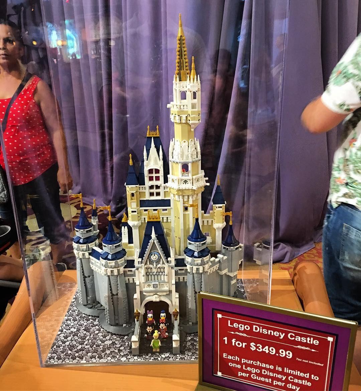 the lego disney castle
