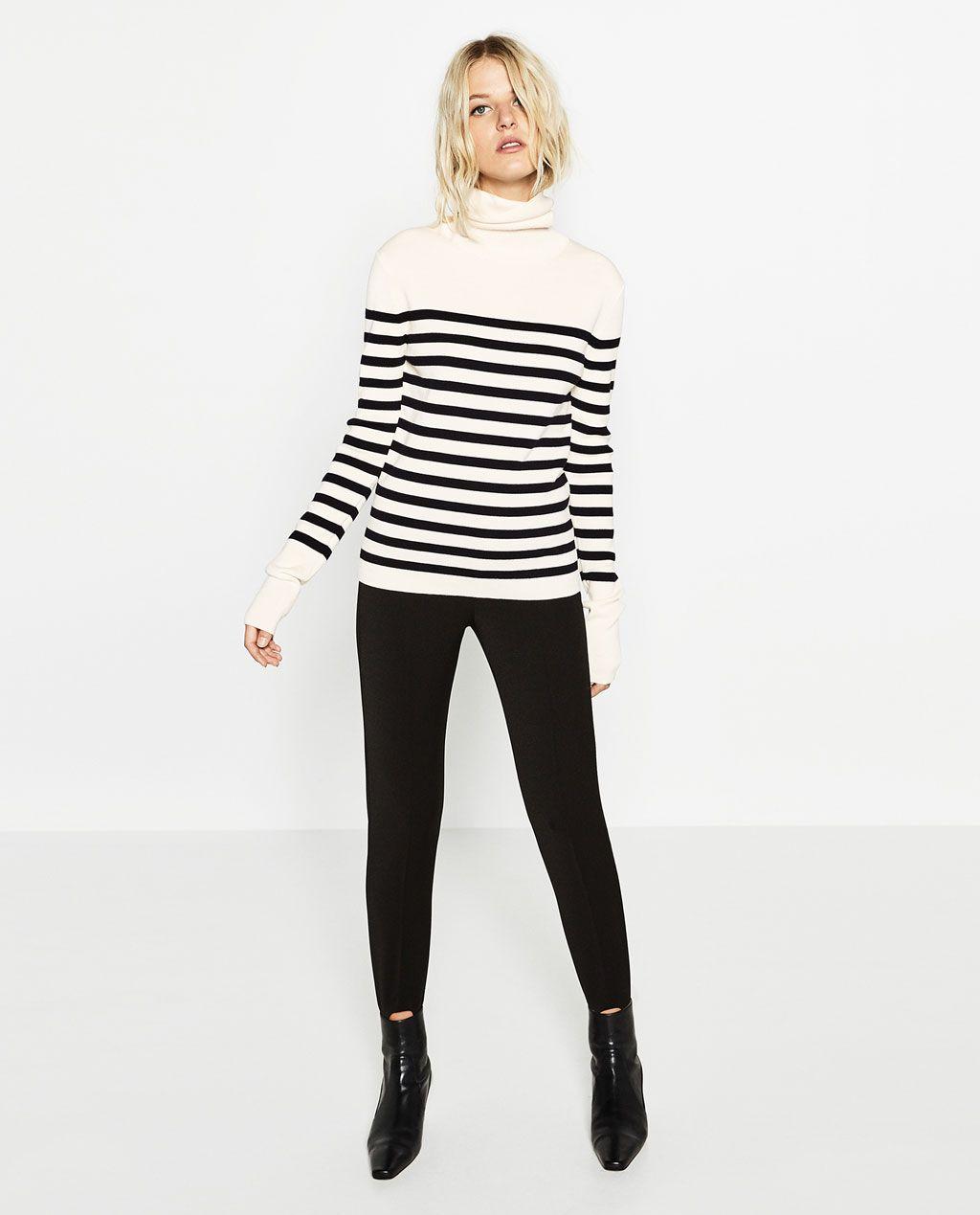 Royaume-Uni disponibilité bebca 7232e STRIPED ROLL NECK SWEATER-Sweaters-KNITWEAR-WOMAN   ZARA ...