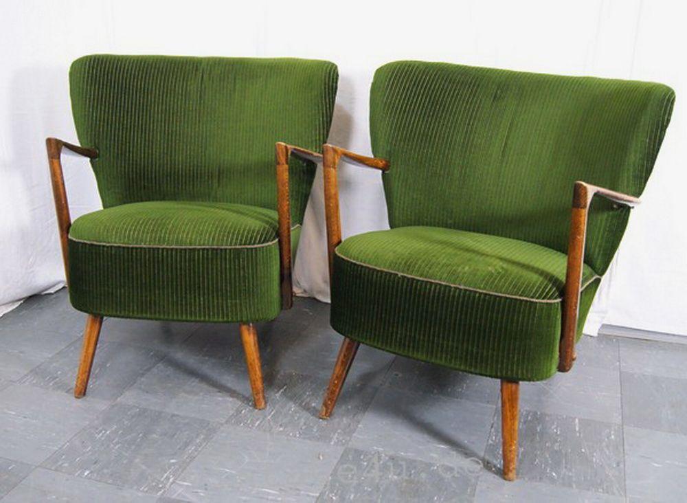 zwei seltene cocktailsessel mit aussergew hnlichen armlehnen 50er jahre verkauft nach paris. Black Bedroom Furniture Sets. Home Design Ideas