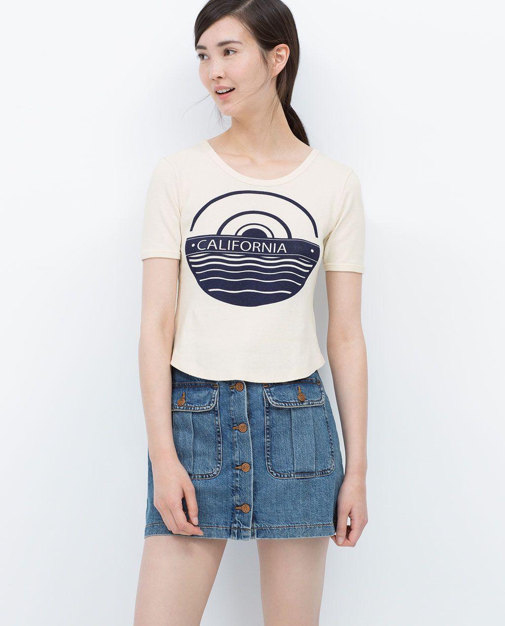 Zara Trf Printed T Shirt Tshirts For Work Pinterest T