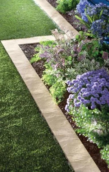 Beautiful Garden Edging Ideas | Concrete Garden, Backyard Landscaping, Landscape Edging