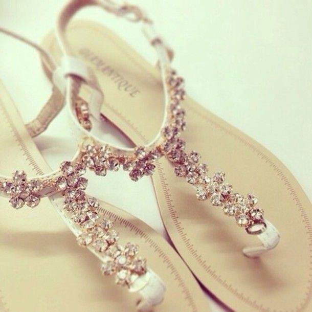 Shoes Gold Jewerly Sandals Rhinstones Sliber Silver Flats Rhinestones Diamonds Sparkle Glitter