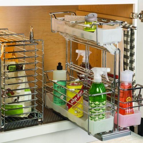 Kessebohmer Single Basket Storage Unit Pullout Chrome 54548260 - lösungen für kleine küchen
