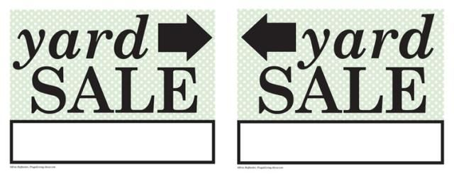 photo about Free Printable Yard Sale Signs named 27 Cost-free, Printable Recipe Card Sets for the household? Back garden