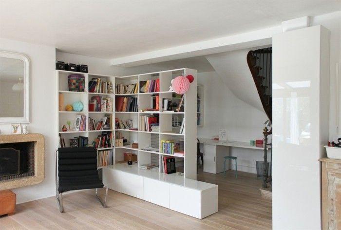moderne ideen zur optischen trennung durch regal raumteiler pinterest. Black Bedroom Furniture Sets. Home Design Ideas