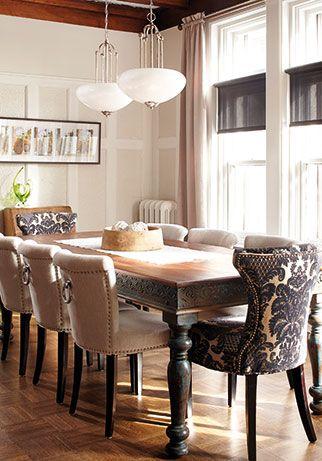 Inspiration déco: Table de salle à manger | Chez Soi © Photo: Yves Lefebvre #deco #salleamanger #table #bois