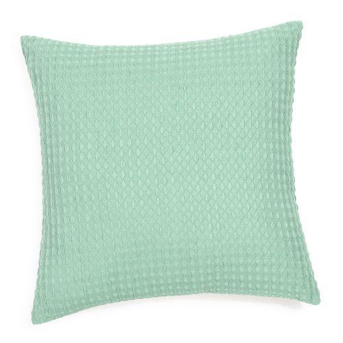 housse de coussin en coton vert d 39 eau 40 x 40 cm hita chambre baptiste pinterest coton. Black Bedroom Furniture Sets. Home Design Ideas