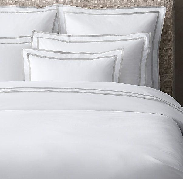 Italian Parallel Border Duvet Cover Bed Linens Luxury Guest