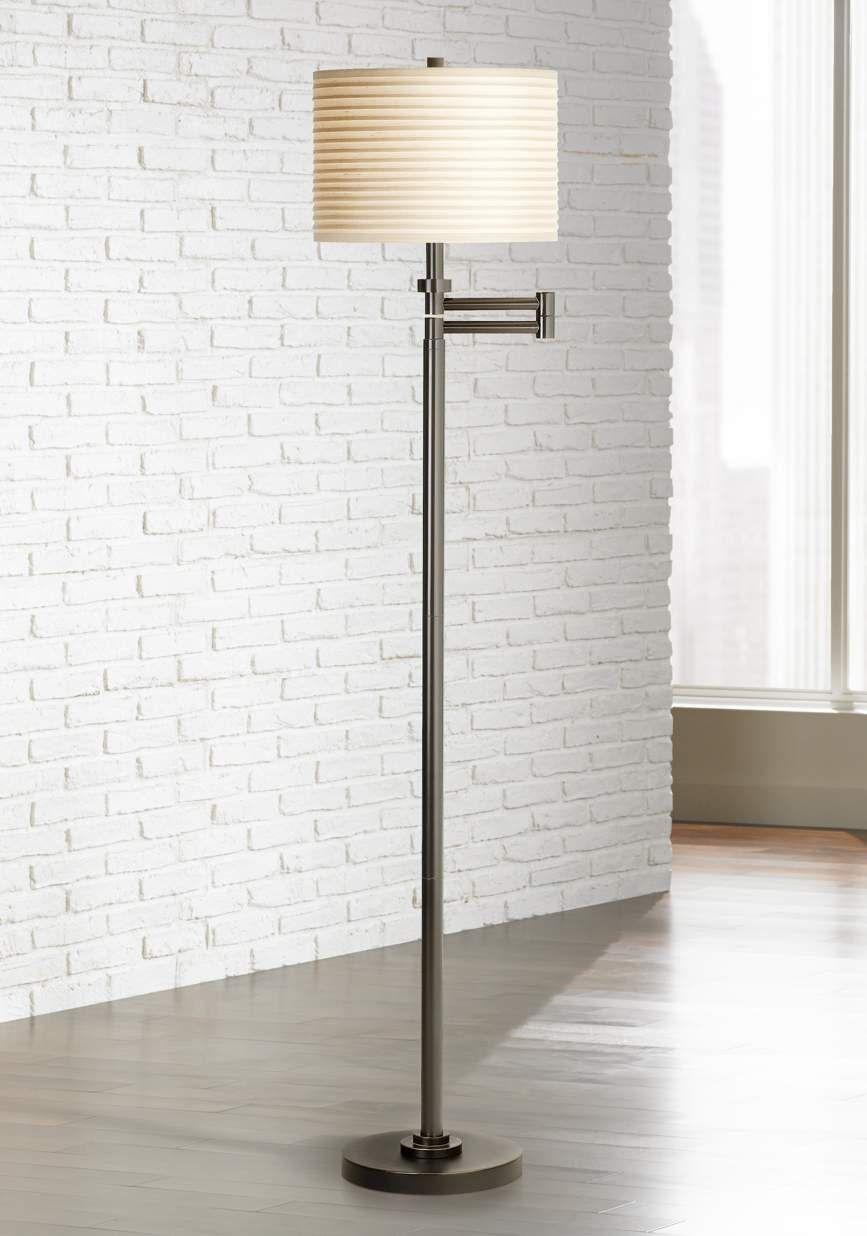 Neat Pleat Swing Arm Floor Lamp 67458 Lamps Plus Swing Arm