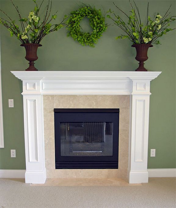 Traditional white fireplace mantel ideas | Home | Pinterest ...