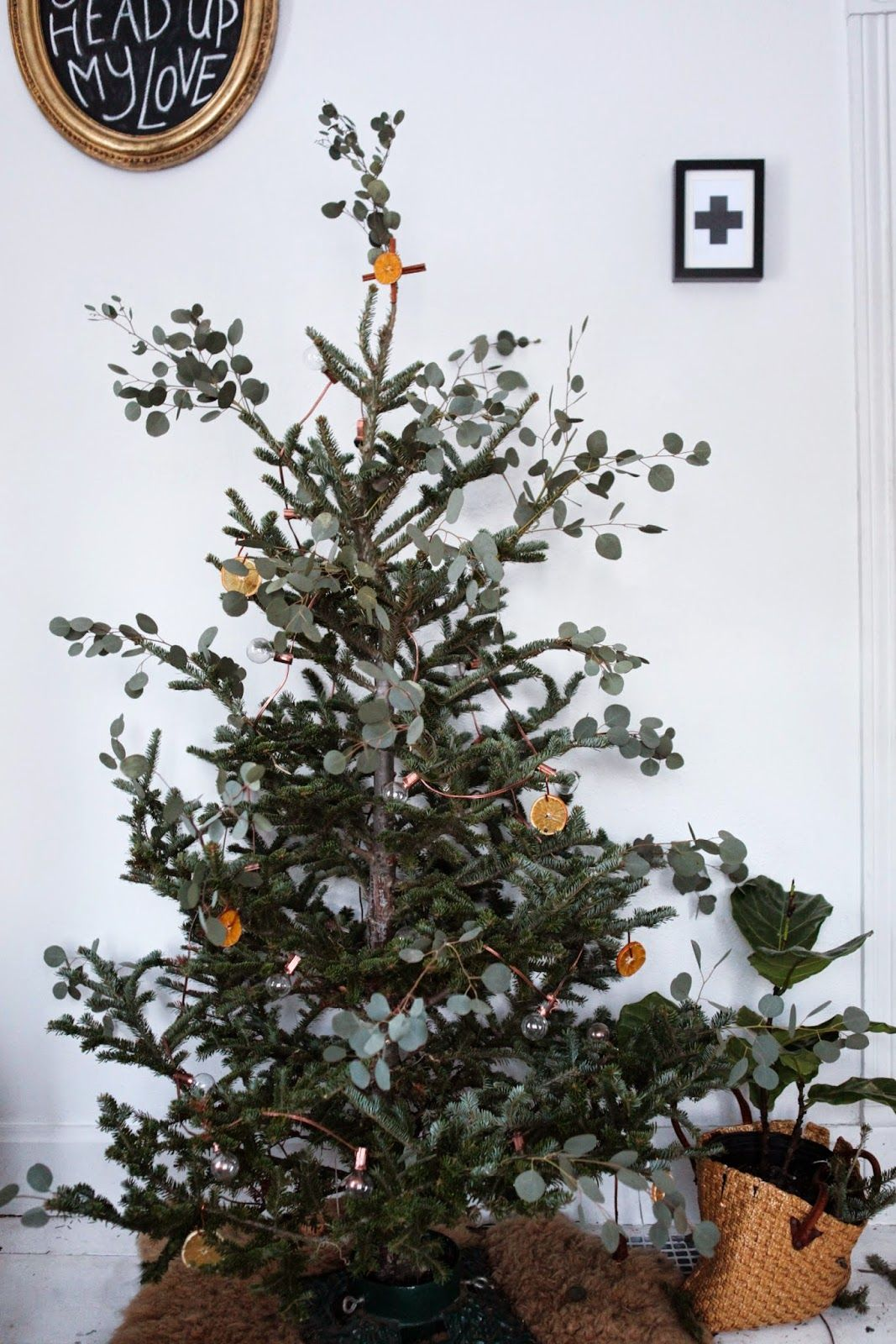 Copper+Eucalyptus+Orange Tree Christmas decorations