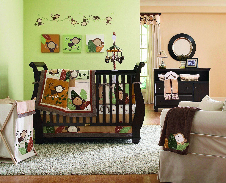 Monkey Decorating Baby Crib Bedding Sets
