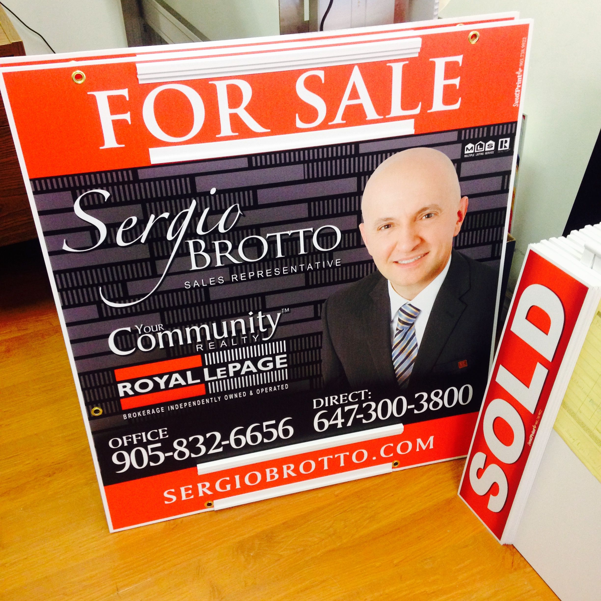 Realtor your community royal lepage for sale sign with sliders for realtor your community royal lepage for sale sign with sliders for sold and address riders reheart Images