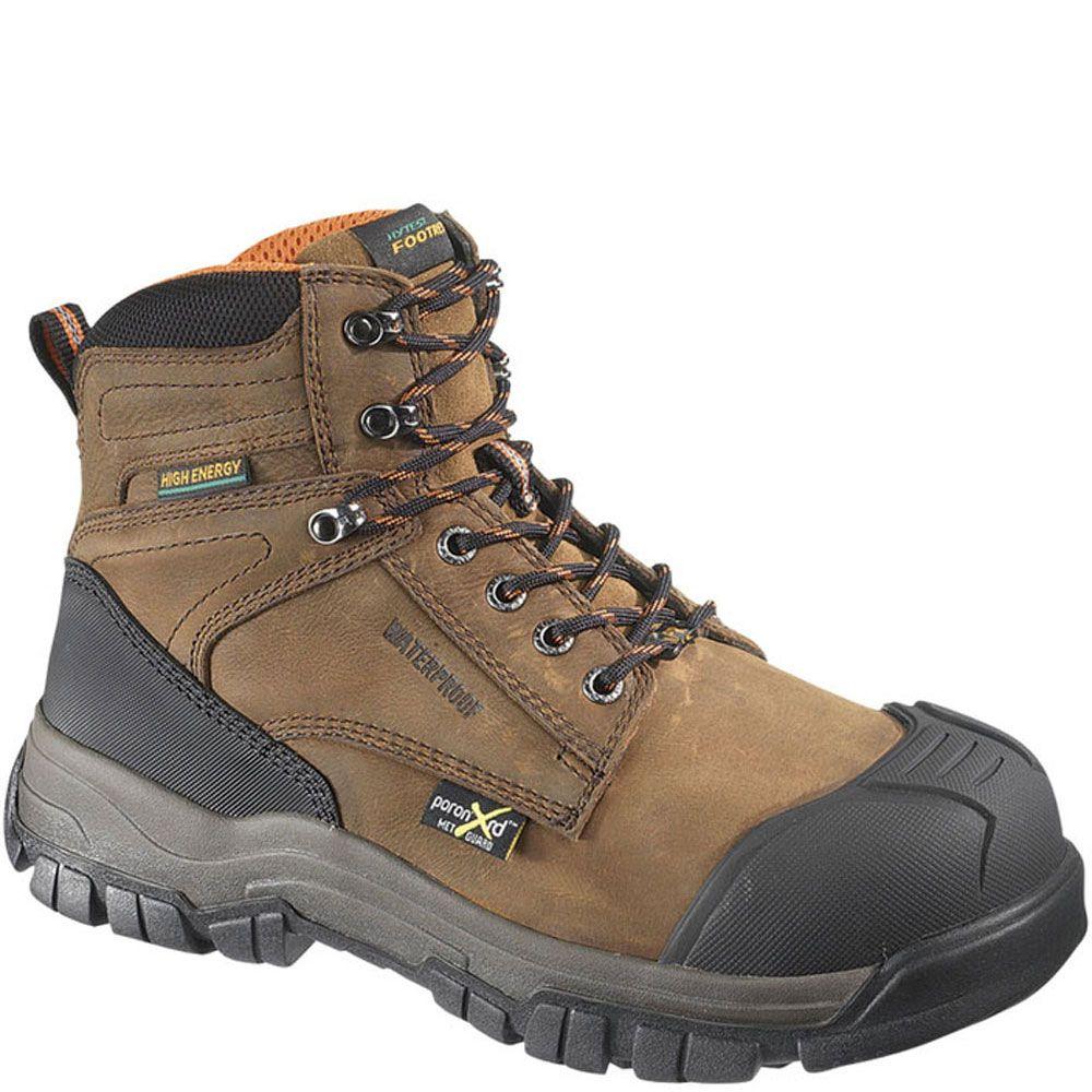 3d4f39242da 13562 Hytest Men's High Energy PR Safety Boots - Brown | Hytest ...