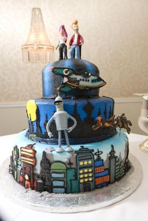 30 Nerdy Wedding Cakes Futurama Wedding And Cake