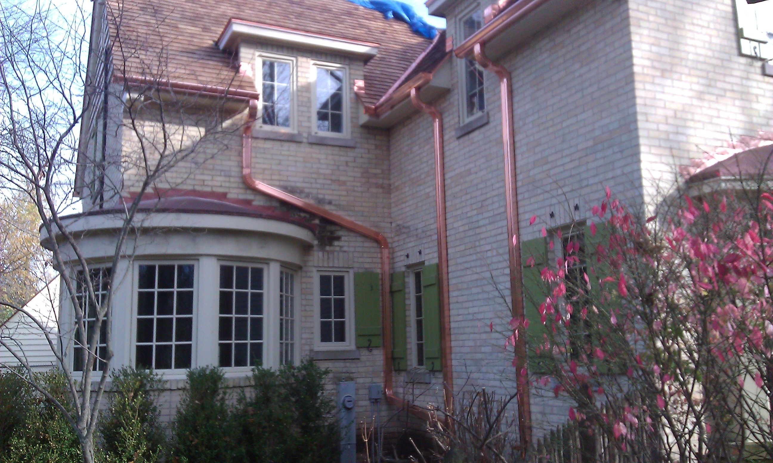 Faux Copper Gutter Made Of Aluminum Google Search Modern Colonial Copper Gutters Chimney Cap