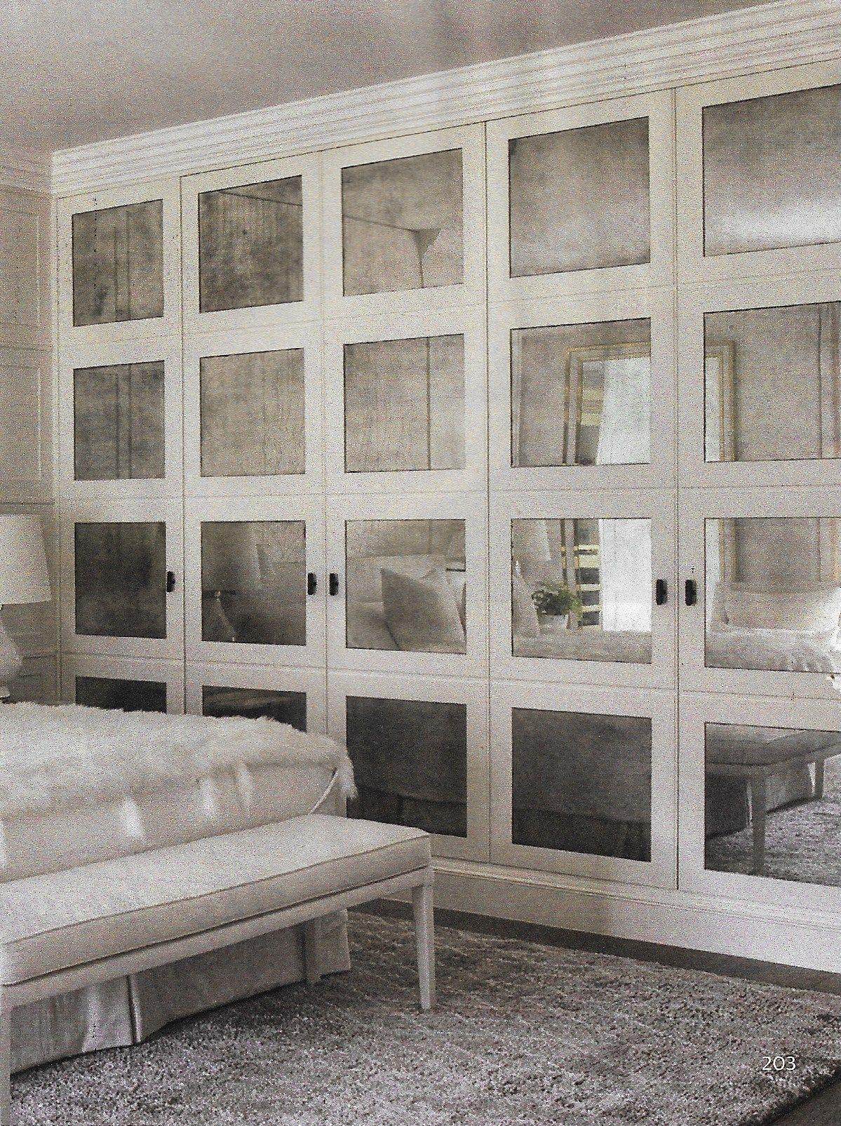 Antiqued Mirrored Closet Doors Though Make 1 Or 2 Panels Vs 4 Shown Here Mirror Closet Doors Mirrored Wardrobe Doors Closet Doors