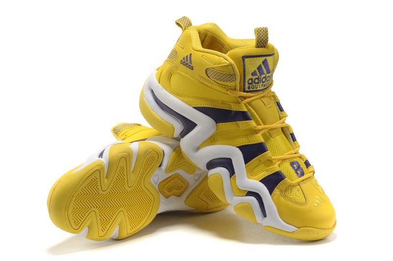9c7988aefc7001 Crazy 8 Adidas Basketball Shoes Yellow Purple White