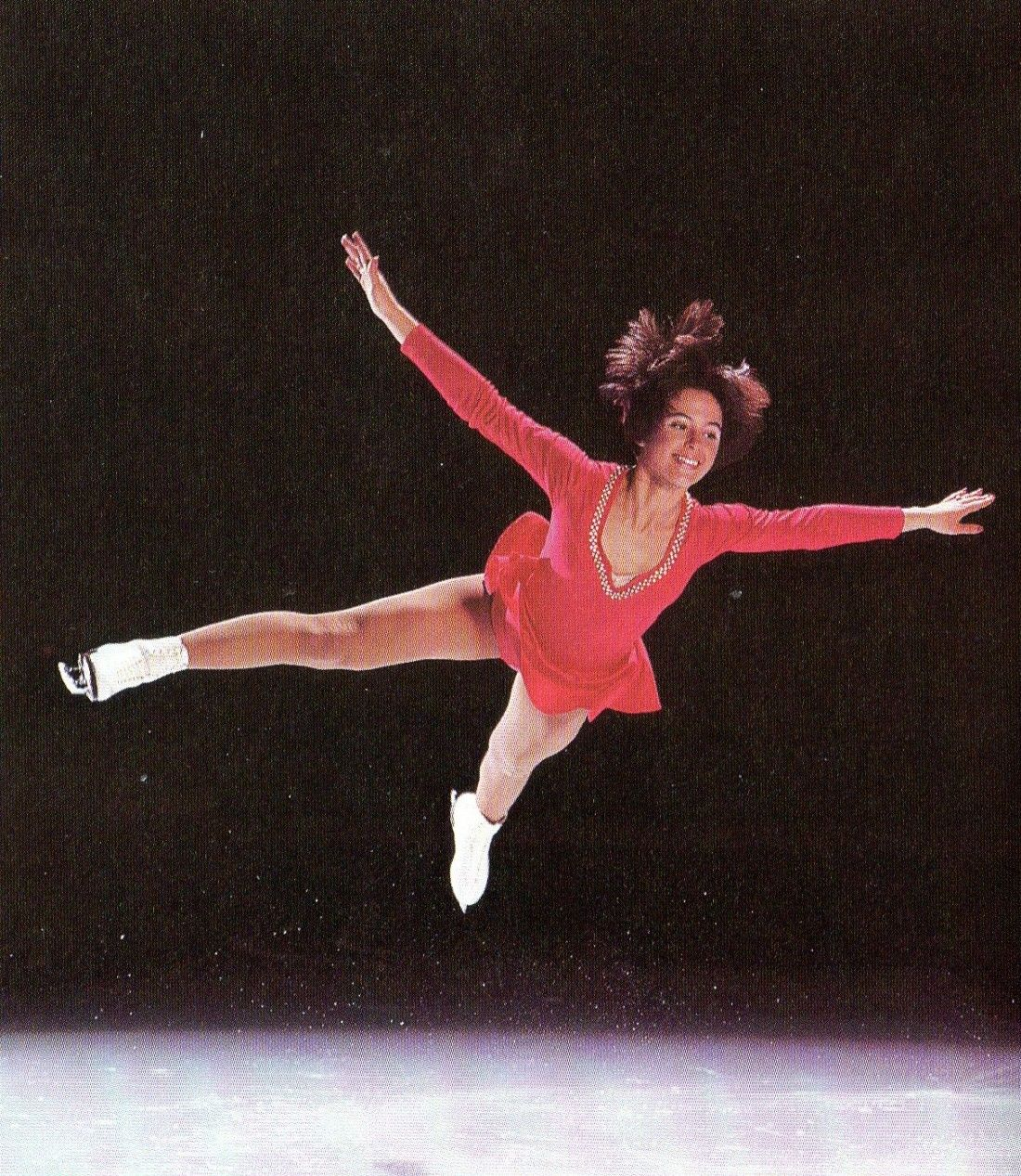 DOROTHY HAMILL IN FLIGHT I HAVE THIS PICTURE CUT IT OUT OF