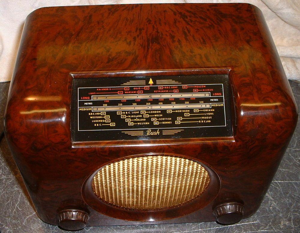 Vintage Bush Dac 90a Valve Radio Antique Radio Vintage Radio Radio