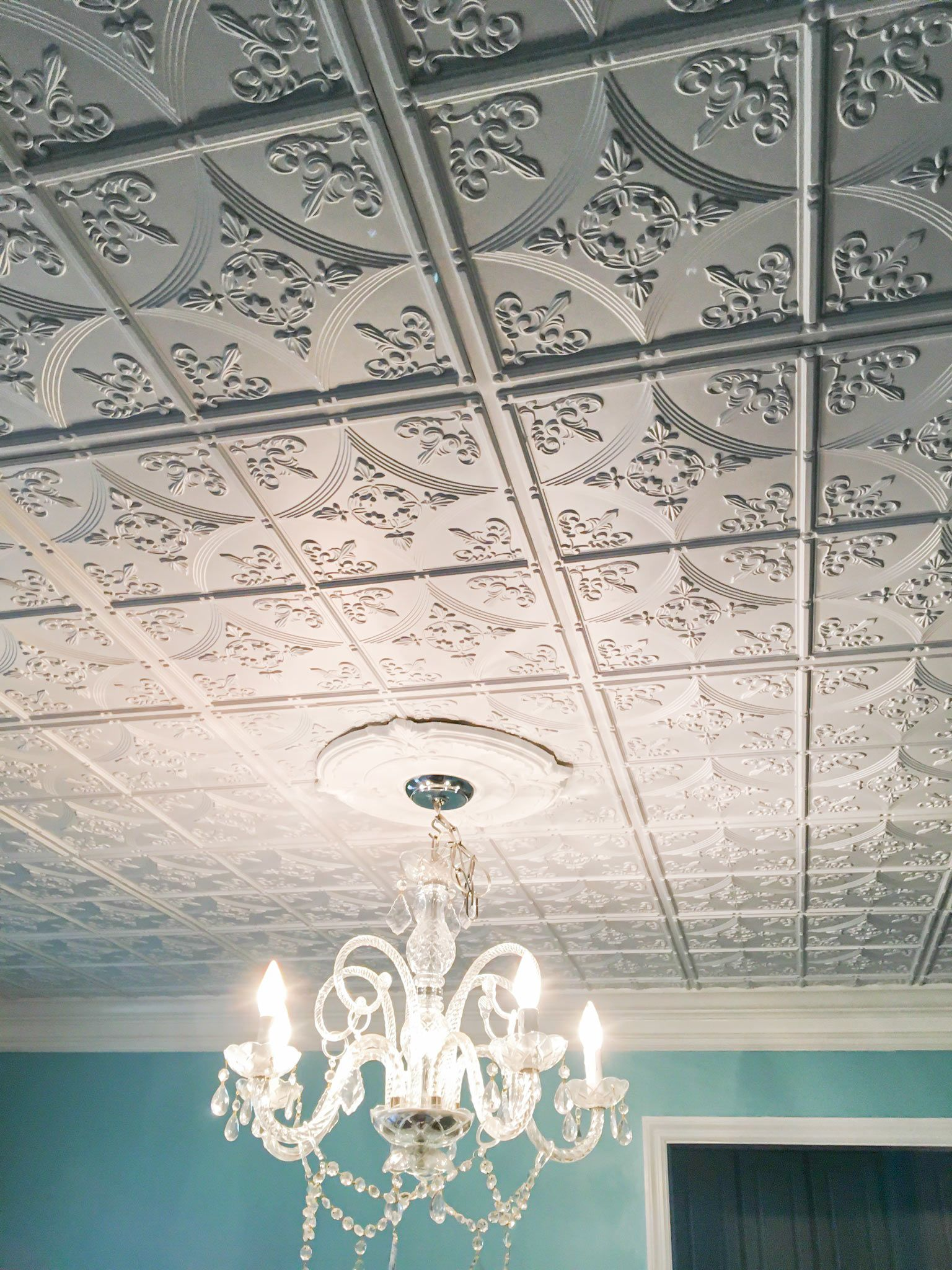 Transform Your Room With Glue Up Ceiling Tiles Decorative Faux