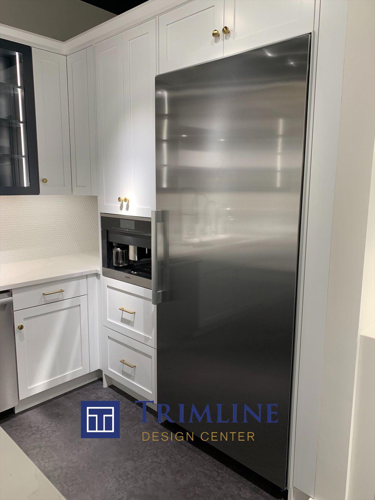 Pin By Trimline Design Center On Kitchen Appliances Built In Refrigerator Built In Coffee Maker Kitchen Design