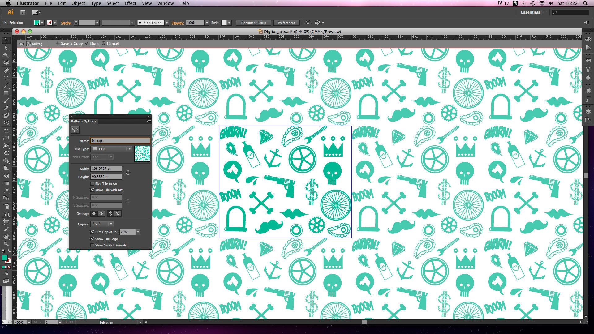Adobe Illustrator Tutorial Create Seamless Repeating Patterns