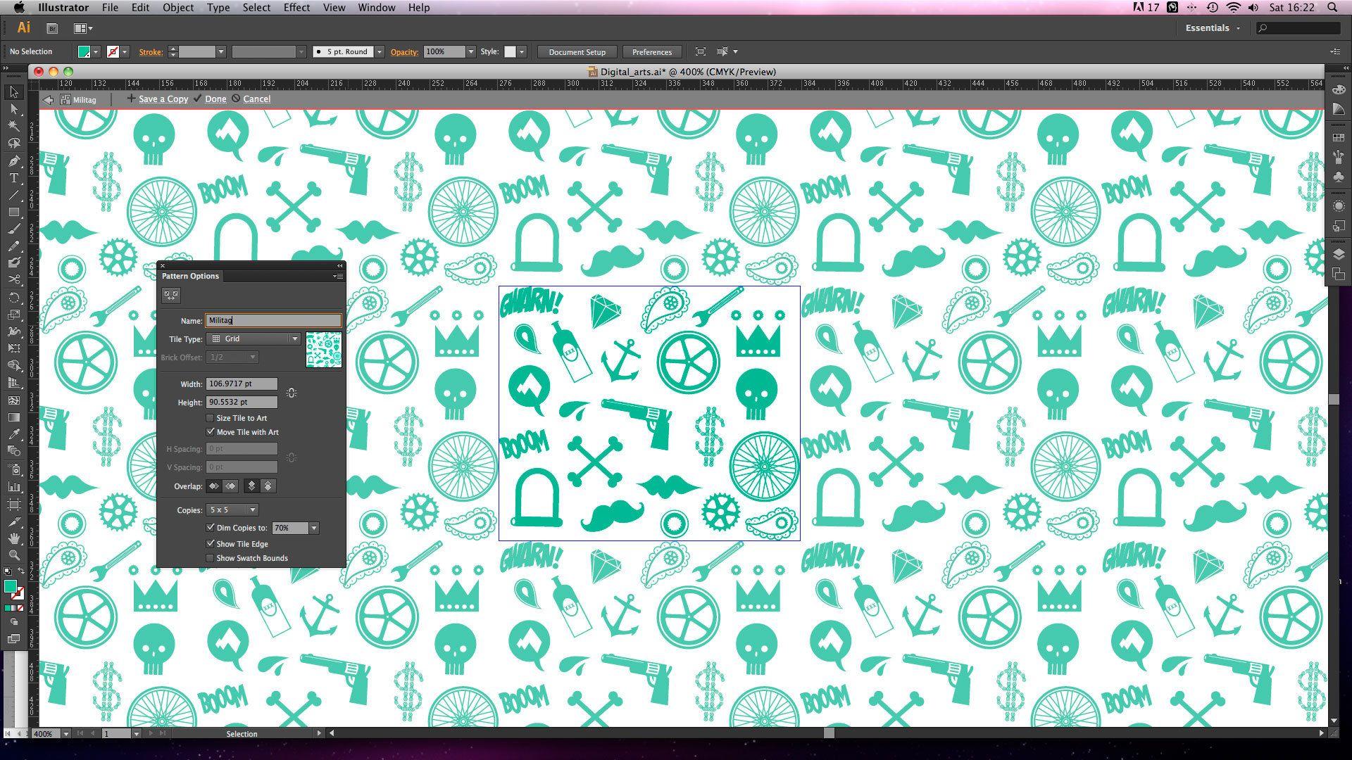 Adobe Illustrator tutorial: Create seamless repeating patterns using  Illustrator CS6's new tools - Digital Arts