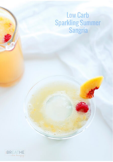 Low Carb Sparkling White Sangria Recipe in 2020 Low