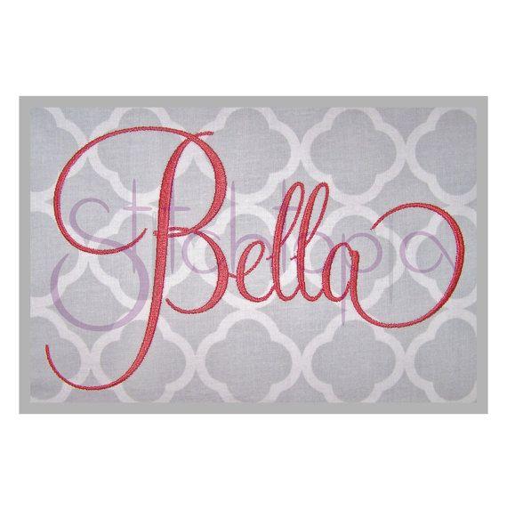 bella embroidery font set - 5 u0026quot  6 u0026quot  7 u0026quot