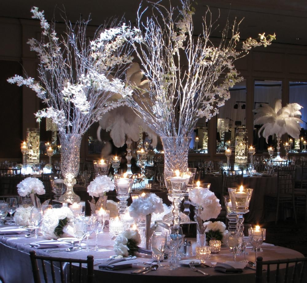 Wedding Floral Centerpieces Ideas: Winter Wedding Centerpieces