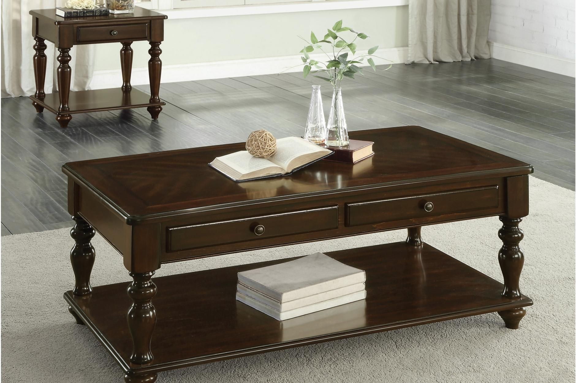 Lovington Wood Occasional Table Set Lift Top Coffee Table End Tables With Drawers Table