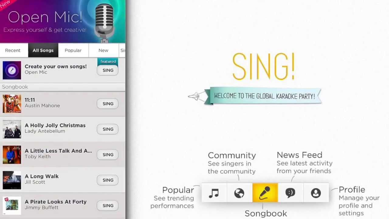 Free Download Sing Karaoke By Smule For Pc Laptop Desktop Win Xp Win 7 Win 8 Win 10 Mac Os X V10 5 Leopard Mac Os X V10 6 Snow Aplikasi Lagu Penyanyi