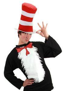 CAT IN THE HAT DR SEUSS COSTUME SET 2T 3T 4T JUMPSUIT HAT BOW TIE TAIL
