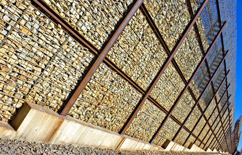 gabion stone pesquisa google sergio pinterest gabion wall rain garden and modern architecture