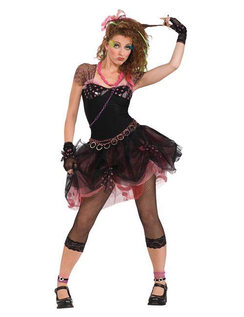 80er Disco Punk Damen Kostüm schwarz | 80´s Party Ideen | Pinterest