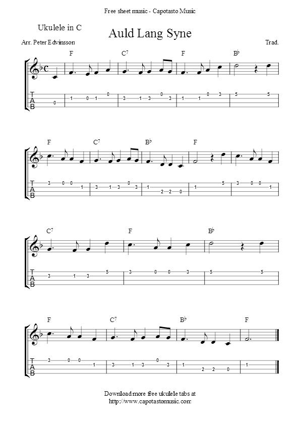 Auld Lang Syne Ukulele Songs Pinterest Ukulele Ukulele Songs