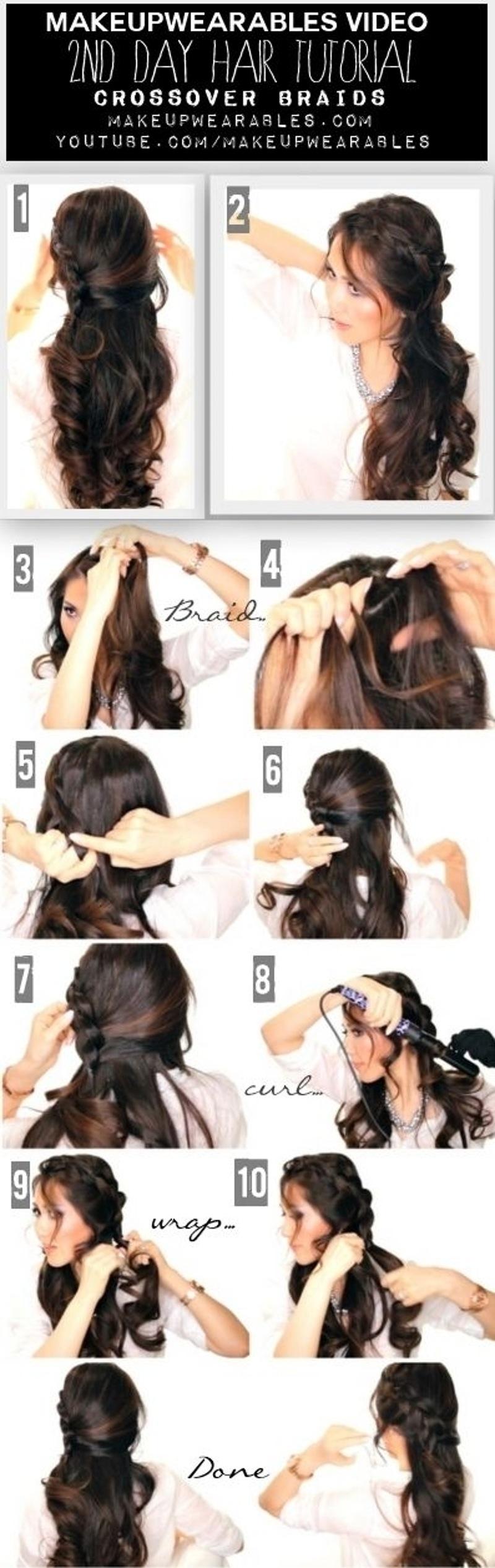 6. #Crossover Braid Tutorial #Video - 30 Sensational #Second Day ...