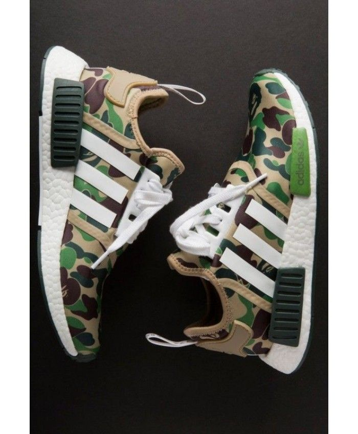 online store b6d27 3a8af Adidas NMD R1 Camo Bape Green Shoes